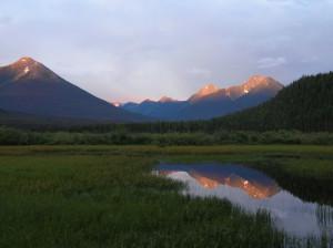Cariboo Mountains and Bowron Lakes at Sunrise